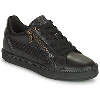 Schuhe Damen Sneaker Low Geox BLOMIEE Schwarz
