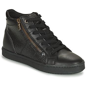 Schuhe Damen Sneaker High Geox BLOMIEE Schwarz