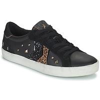 Schuhe Damen Sneaker Low Geox WARLEY Schwarz / Gold