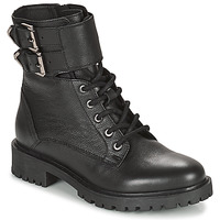 Schuhe Damen Low Boots Geox HOARA Schwarz