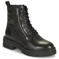 Schuhe Damen Low Boots Geox IRIDEA Schwarz