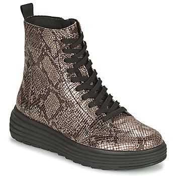 Schuhe Damen Boots Geox PHAOLAE Braun