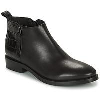 Schuhe Damen Low Boots Geox BROGUE Schwarz