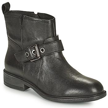Schuhe Damen Low Boots Geox CATRIA Schwarz