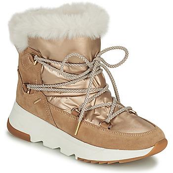 Schuhe Damen Schneestiefel Geox FALENA Beige / Gold
