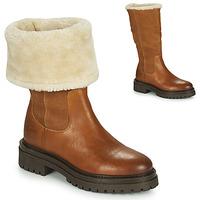 Schuhe Damen Boots Geox IRIDEA Braun