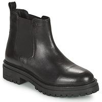 Schuhe Damen Boots Geox IRIDEA Schwarz