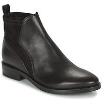 Schuhe Damen Boots Geox DONNA BROGUE Schwarz