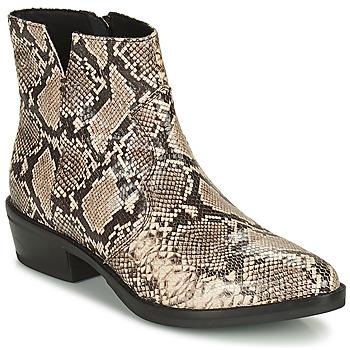 Schuhe Damen Boots Geox TEOCLEA Beige