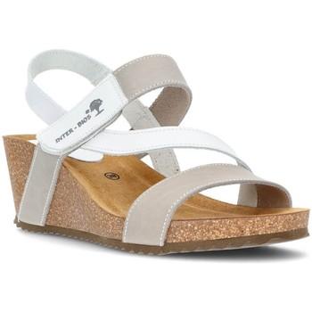 Schuhe Damen Sandalen / Sandaletten Interbios Sandalen Komfortabler Keil 2019 WEISS