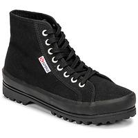 Schuhe Damen Sneaker High Superga 2341 ALPINA COTU Schwarz