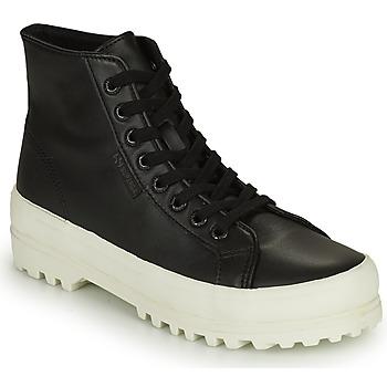 Schuhe Damen Sneaker High Superga 2341 ALPINA NAPPA Schwarz