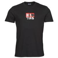 Kleidung Herren T-Shirts Diesel T-DIEGOS-B10 Schwarz