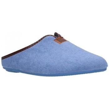Schuhe Damen Hausschuhe Norteñas 9-191 Mujer Celeste bleu