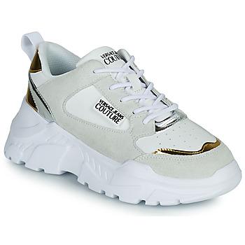Schuhe Damen Sneaker Low Versace Jeans Couture FREMMI Weiss / Goldfarben / Silbern