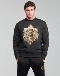 Kleidung Herren Sweatshirts Versace Jeans Couture VEMBLEM LEAF Schwarz / Gold