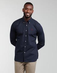 Kleidung Herren Langärmelige Hemden U.S Polo Assn. DIRK 51371 EH03 Marine