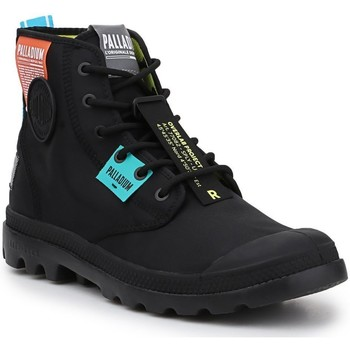 Schuhe Sneaker High Palladium Manufacture Lite OVB Neon U 77082-008 schwarz