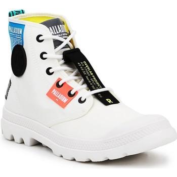 Schuhe Sneaker High Palladium Manufacture Lite OVB Neon U 77082-116 weiß
