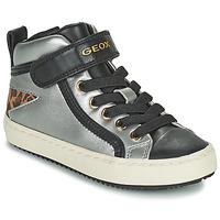 Schuhe Mädchen Sneaker High Geox KALISPERA Silbern