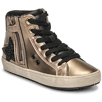 Schuhe Mädchen Sneaker High Geox KALISPERA Gold / Schwarz