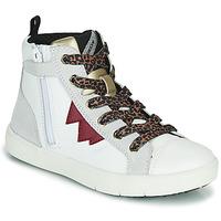 Schuhe Mädchen Sneaker High Geox SILENEX Weiss