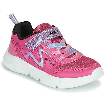 Schuhe Mädchen Sneaker Low Geox ARIL Rose / Violett