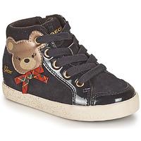 Schuhe Mädchen Sneaker High Geox KILWI Schwarz