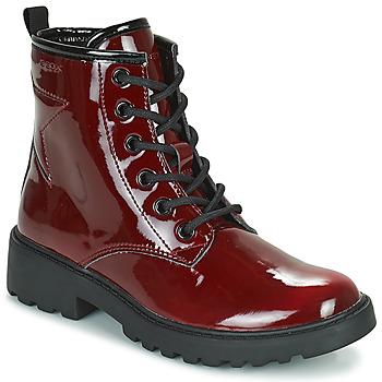 Schuhe Mädchen Boots Geox CASEY Bordeaux