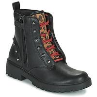 Schuhe Mädchen Boots Geox CASEY Schwarz