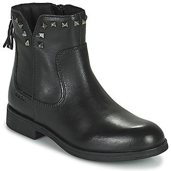 Schuhe Mädchen Boots Geox AGATO Schwarz