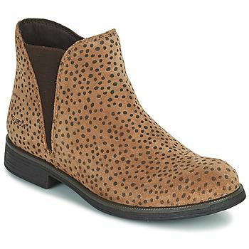 Schuhe Mädchen Boots Geox AGATO Braun