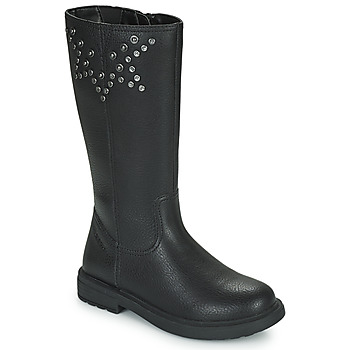 Schuhe Mädchen Klassische Stiefel Geox ECLAIR Schwarz