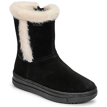 Schuhe Mädchen Klassische Stiefel Geox REBECCA Schwarz / Weiss