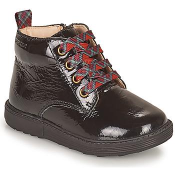 Schuhe Mädchen Boots Geox HYNDE Schwarz