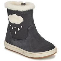 Schuhe Mädchen Klassische Stiefel Geox TROTTOLA Schwarz
