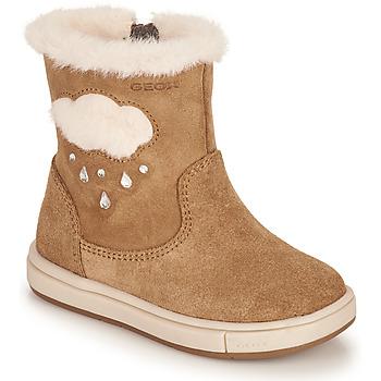 Schuhe Mädchen Klassische Stiefel Geox TROTTOLA Braun