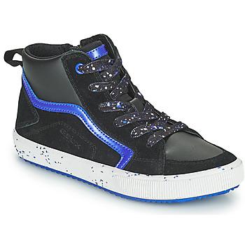 Schuhe Jungen Sneaker High Geox ALONISSO Schwarz / Marine