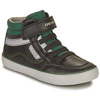 Schuhe Jungen Sneaker High Geox GISL Schwarz / Grün
