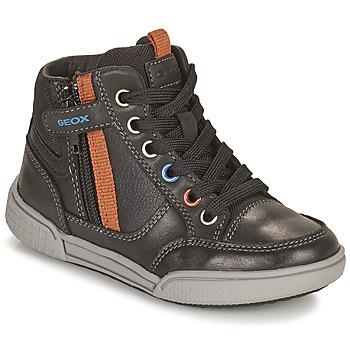 Schuhe Jungen Sneaker High Geox POSEIDO Braun