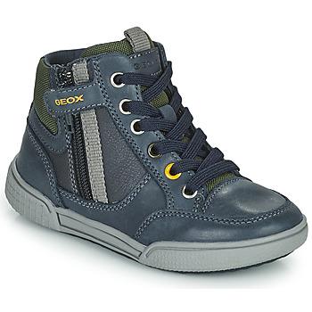 Schuhe Jungen Sneaker High Geox POSEIDO Marine / Grün