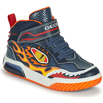 Schuhe Jungen Sneaker High Geox INEK Marine / Rot