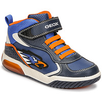 Schuhe Jungen Sneaker High Geox INEK Blau / Orange