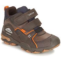 Schuhe Jungen Boots Geox BULLER ABX Braun