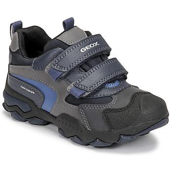 Schuhe Jungen Boots Geox BULLER ABX Marine / Grau