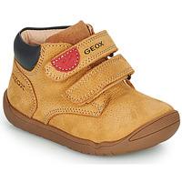 Schuhe Jungen Boots Geox MACCHIA Braun