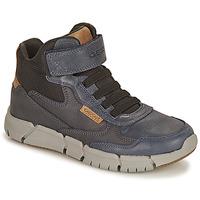 Schuhe Jungen Boots Geox FLEXYPER Marine / Camel