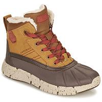 Schuhe Jungen Boots Geox FLEXYPER ABX Braun