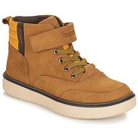 Schuhe Jungen Boots Geox RIDDOCK WPF Camel