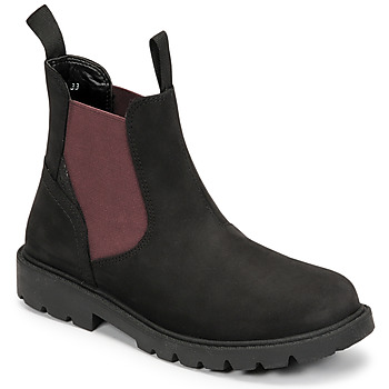 Schuhe Jungen Boots Geox SHAYLAX Schwarz / Bordeaux